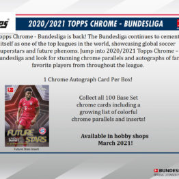 2020-21 Topps Bundesliga Chrome Soccer Hobby Box