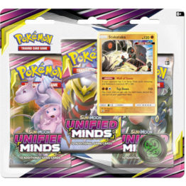 Pokemon Sun and Moon Unified Minds Stakataka 3 Pack Blister