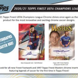 2020-21 Topps Finest UEFA Champions League Soccer Hobby Box